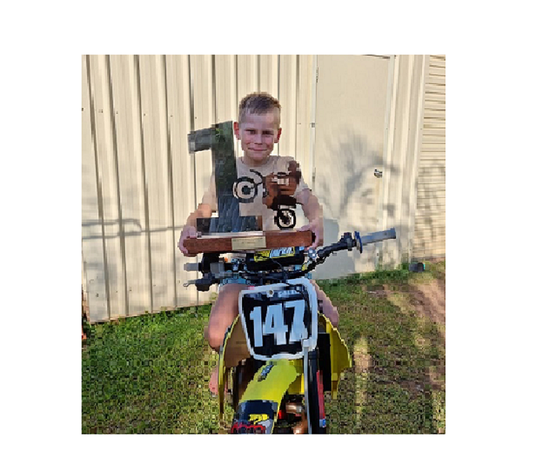 CONGRATULATIONS CALEB FOR WINNING THE 50CC N.T TITLES